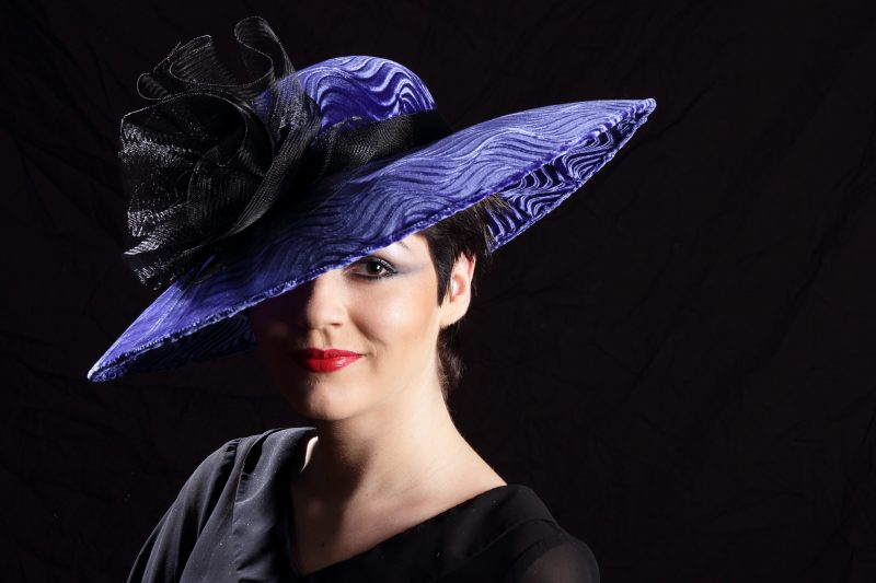 Blue Velvet Hat, Designer Millinery from the Lake District - Tracy Wells