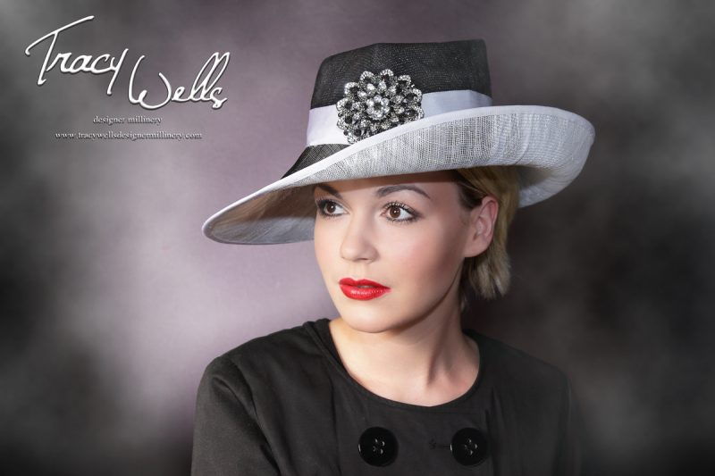 Fantastic Female Trilby, Designer Millinery from the Lake District - Tracy Wells