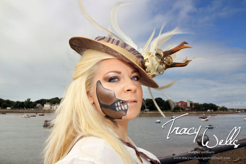 Steampunk Skull Hat, Designer Millinery from the Lake District - Tracy Wells